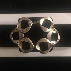 Georg Jensen Sterling Ribbon Link Bracelet
